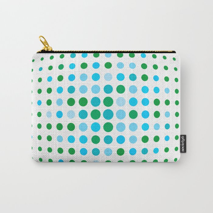 Green and blue optic Carry-All Pouch