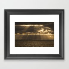 Golden rain Framed Art Print