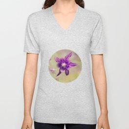 Columbine flower Unisex V-Neck