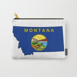 Montana Map with Montana State Flag Carry-All Pouch