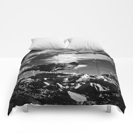 Raven and Clouds Comforters