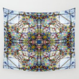 NEPALI PRAYERS CARRIED BY THE WIND FROM FLAGS Wall Tapestry
