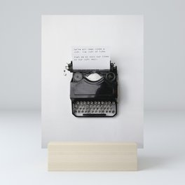 THE GIFT OF LIFE - TYPEWRITER Mini Art Print