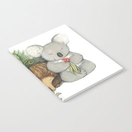 Native Australian Animal Babies – With Koala, Wombat And Echidna Notebook