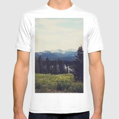 Lake Irwin MEDIUM White Mens Fitted Tee