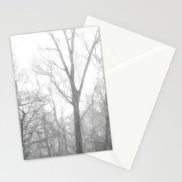 Black and White Forest Illustration Stationery Cards