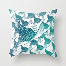 Spotted Eagle Ray II Throw Pillow