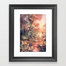 Sunset Forest Framed Art Print