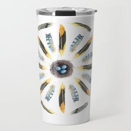 Feather Mandala 1 - Watercolor Travel Mug