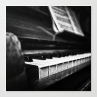 piano Canvas Prints featuring Piano by Monochrome by Juste Pixx