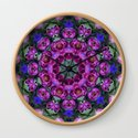 Floral finery - kaleidoscope of blue, plum, rose and green 1650 by rvjdesigns