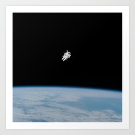 Space Walk Exploration Art Print