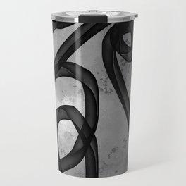 """Galactic Ribbon"" (Black & White) Digital Painting // Fine Art Print Travel Mug"