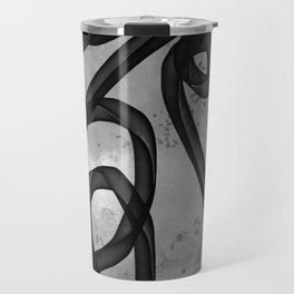 """Galactic Ribbon"" (Black & White) Digital Painting // Fine Art Print Travel Mug"