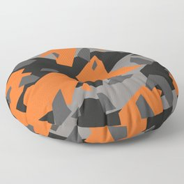 Black\Grey\Orange Geometric camo Floor Pillow