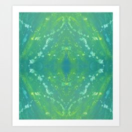 Green Abstract Bright Pattern 1 Art Print