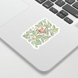Happy Sloth – Tropical Green Rainforest Sticker