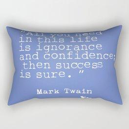 Mark Twain quote 5 Rectangular Pillow