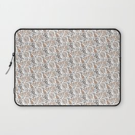 Classic Brown Batik Walang Pattern on White Background Laptop Sleeve