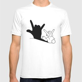 Rabbit Love Hand Shadow T-shirt
