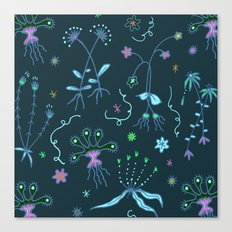Blue Flora of Planet Hinterland Canvas Print
