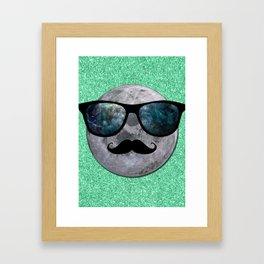 HIPSTER MOON Framed Art Print