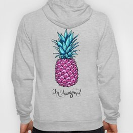 pink pineapple with an inscription awesome Hoody
