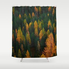 The Evergreens (Color) Shower Curtain