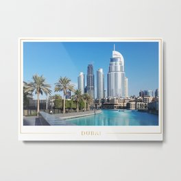 Dubai Downtown Metal Print