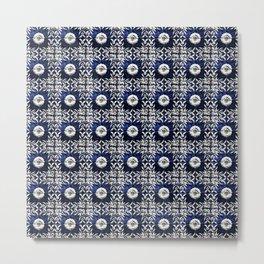 Azulejo VII - Portuguese hand painted tiles Metal Print