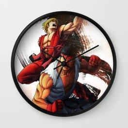 Ryu an Ken Wall Clock