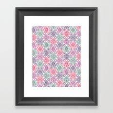 PAISLEYSCOPE tile Framed Art Print