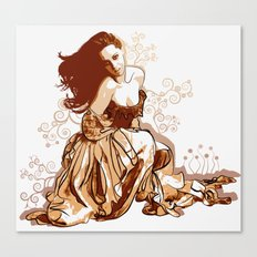 Princess In Rags Canvas Print