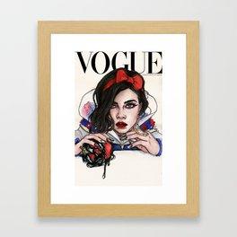 "Cara ""Snow White"" Princess Framed Art Print"