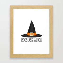 Boss Ass Witch Framed Art Print