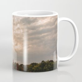 Sunset Sky Over Flower Field Coffee Mug