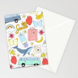 vsco girl - sticker like pattern Stationery Cards