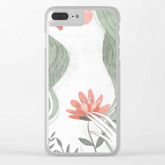 blossom girl Clear iPhone Case
