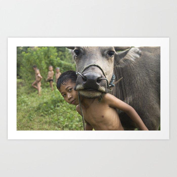 Luang Namtha Boys Art Print