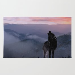 Lone Wolf at Sunset Ridge Rug