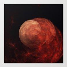 Red Galaxy Canvas Print