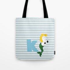 k for kelpie Tote Bag
