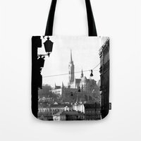 budapest Tote Bags featuring Budapest by Lena Karafelova
