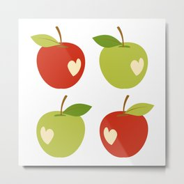 Bitten apples Metal Print