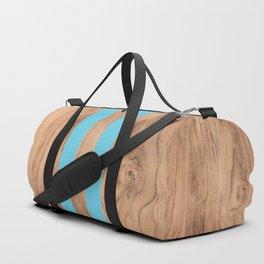 Wood Grain Stripes - Light Blue #807 Duffle Bag
