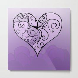 Heart Intricacy Metal Print