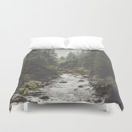 Mountain creek - Landscape and Nature Photography Duvet Cover
