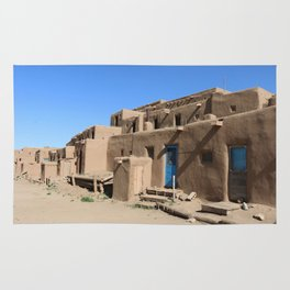 Taos Pueblo Village Road Rug