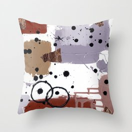 Art Cart Throw Pillow