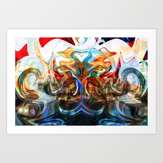 liquified space Art Print